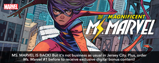 Magnificent Ms. Marvel (2019-) #1: Director's Cut MS. MARVEL IS BACK! But it's not business as usual in Jersey City. Plus, order Ms. Marvel #1 before to receive exclusive digital bonus content!