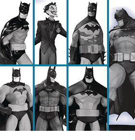 BATMAN BLACK & WHITE MINI FIGURE SET