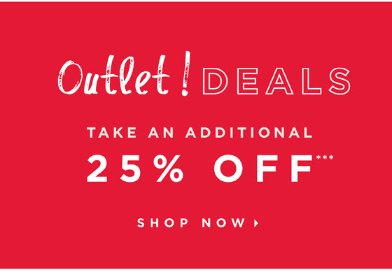 25% OFF OUTLET