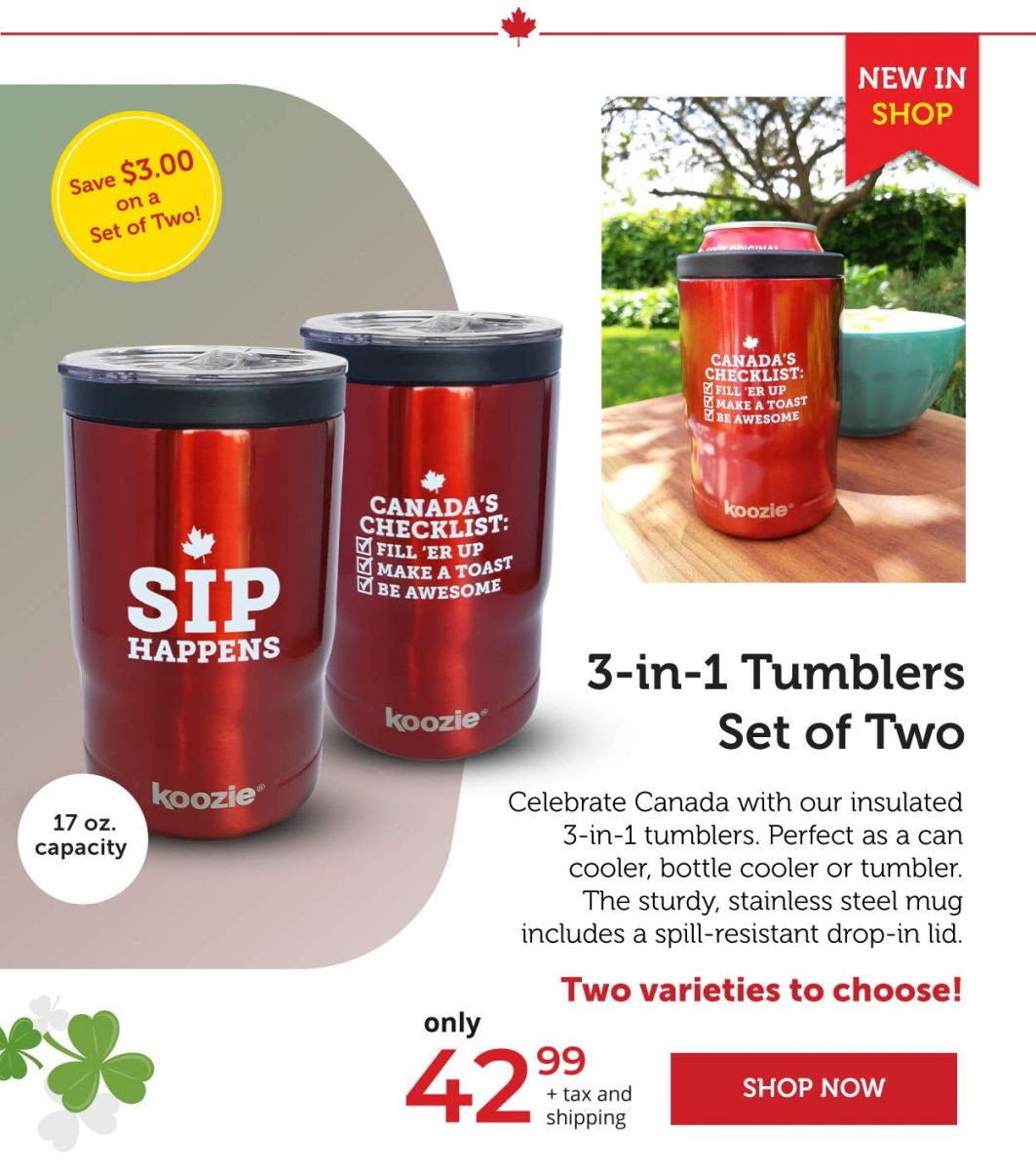 3-in-1 Tumbler set of two