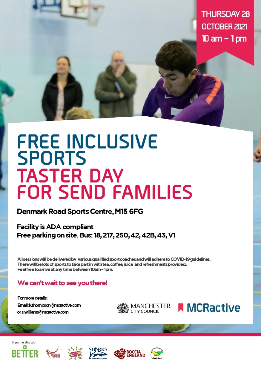 Inclusive sports day poster