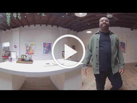 "360 Interactive Artist Talk and Virtual Tour of MICHAEL BOOKER's solo exhibition ""Godspeed"""