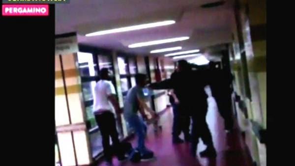Zona de riesgo. El San José de Pergamino, escenario de una batalla campal por una pelea que se inició en un boliche. FOTO:DYN/DYN/CAPTURA DE TV.