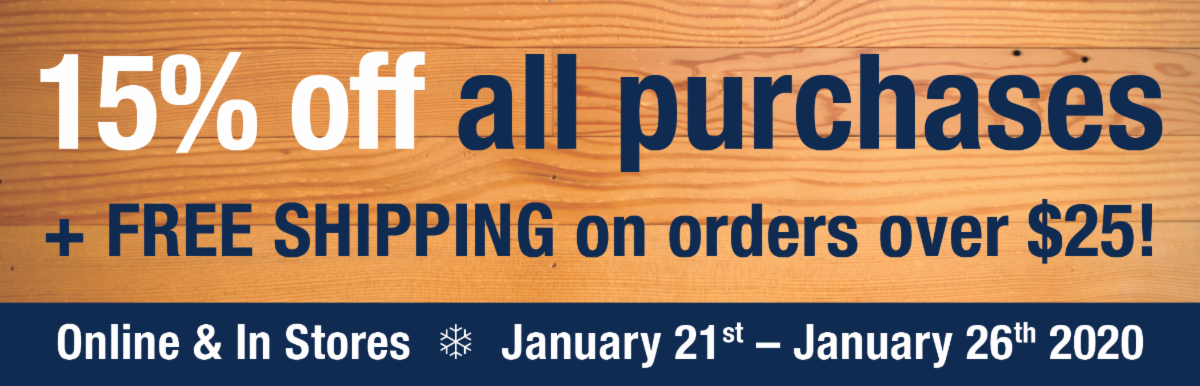 15 Percent Off Everything plus FREE SHIPPING on orders over 25 dollars