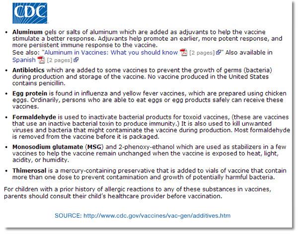 CDC Additives Listing Vaccines Source 600 - vacunas preguntas que nunca te permitirán realizar
