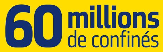 """le logo """"60 Millions de confinés"""""""