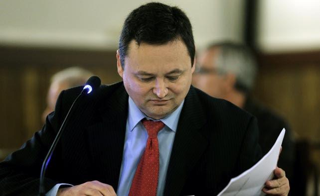 El empresario Augusto Cesar Tauroni, único encarcelado en el caso Cooperación, durante su declaración en el juicio.