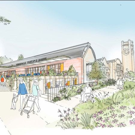 An artist's impression of a new entrance to the Horniman as part of the framework plan.