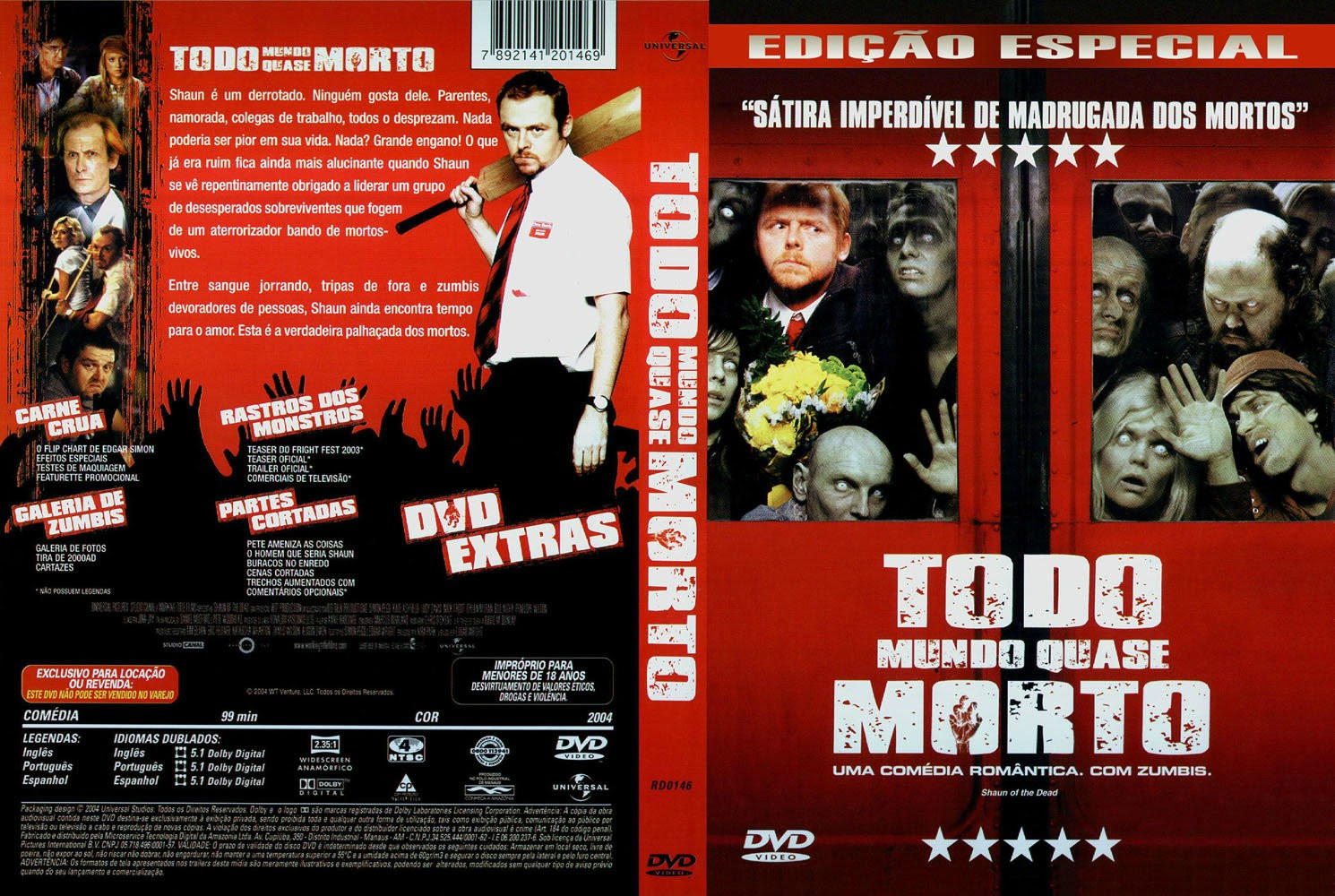 Todo Mundo Quase Morto Torrent – BluRay Rip 720p Dublado (2004)