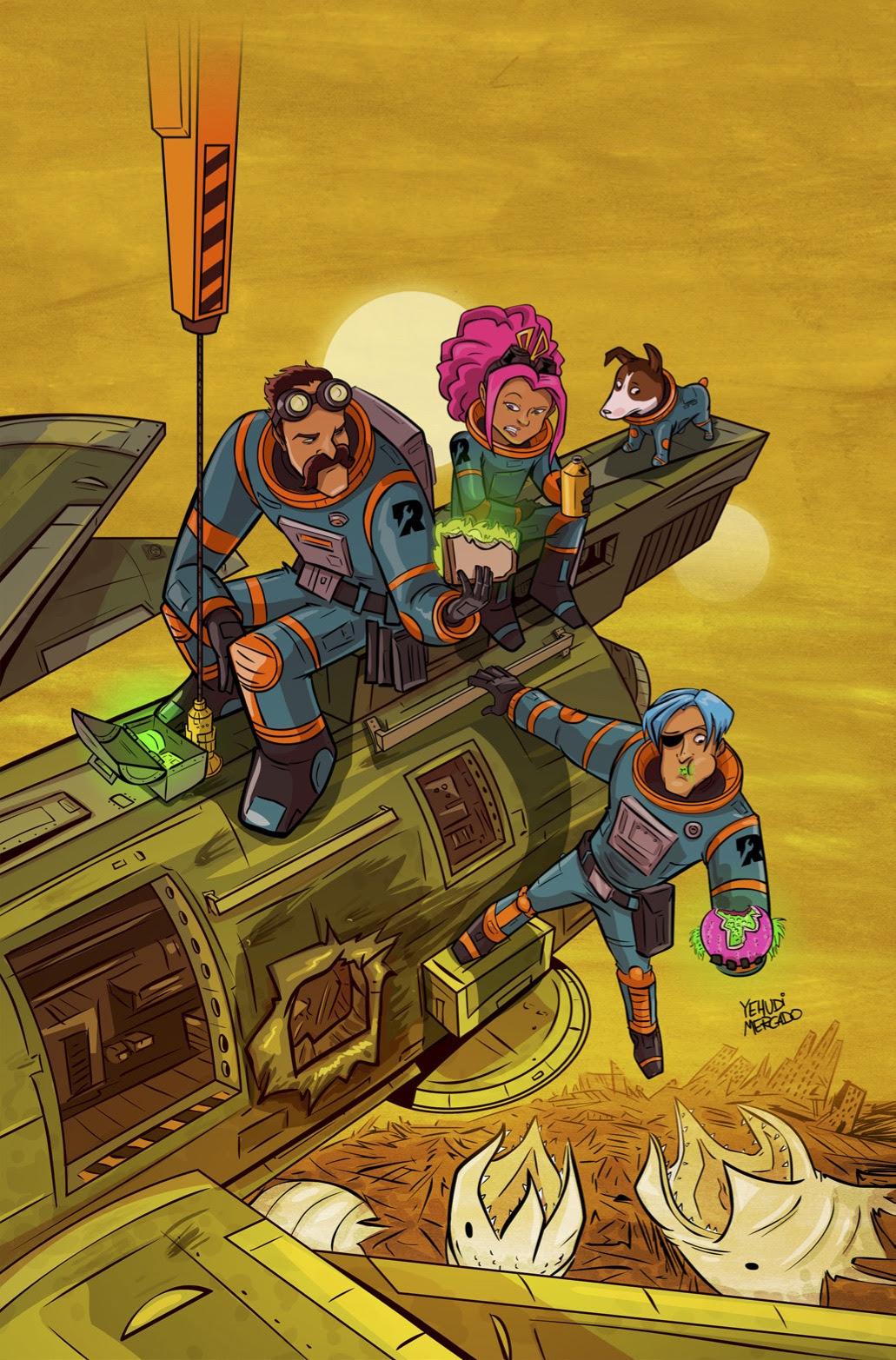 Rocket Salvage #1 Cover B