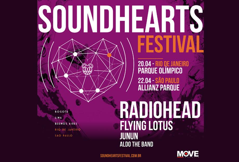 Pré-venda para Soundhearts Festival, com Radiohead, começa nesse sábado