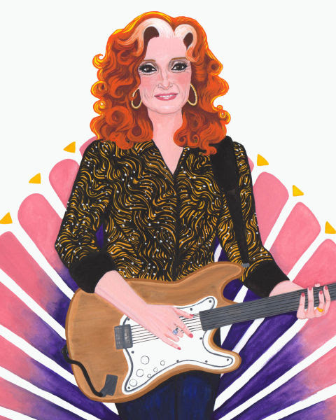 Illustration of Bonnie Raitt