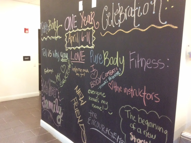 Inspirational Wall at Fitness Center