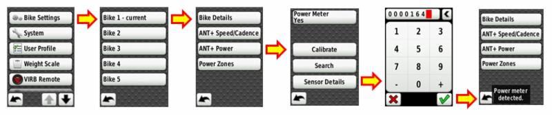 Garmin Edge 800 INpower connection process