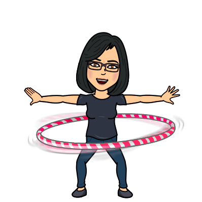 Mrs. Montoya bitmoji hula hooping