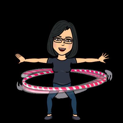 Mrs. Montoya bitmoji hula hooping