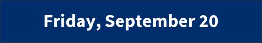 Friday, September 20