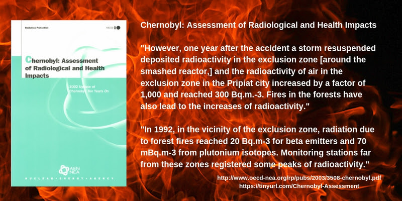 CHERNOBYL – WEST COAST FIRES USA – THE RADS ARE THE SAME ALL OVER