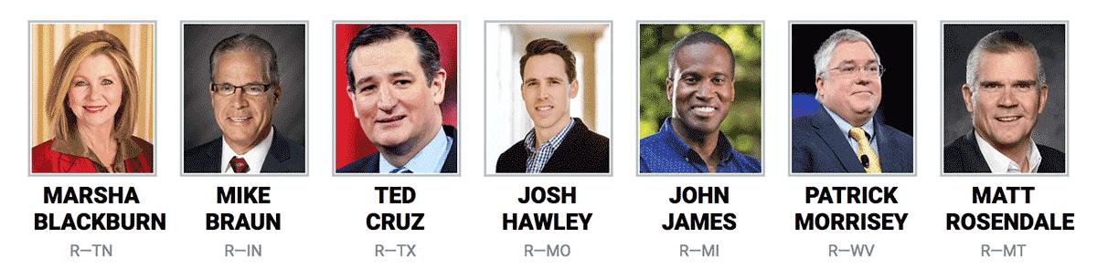 2018 U.S. Senate Candidates