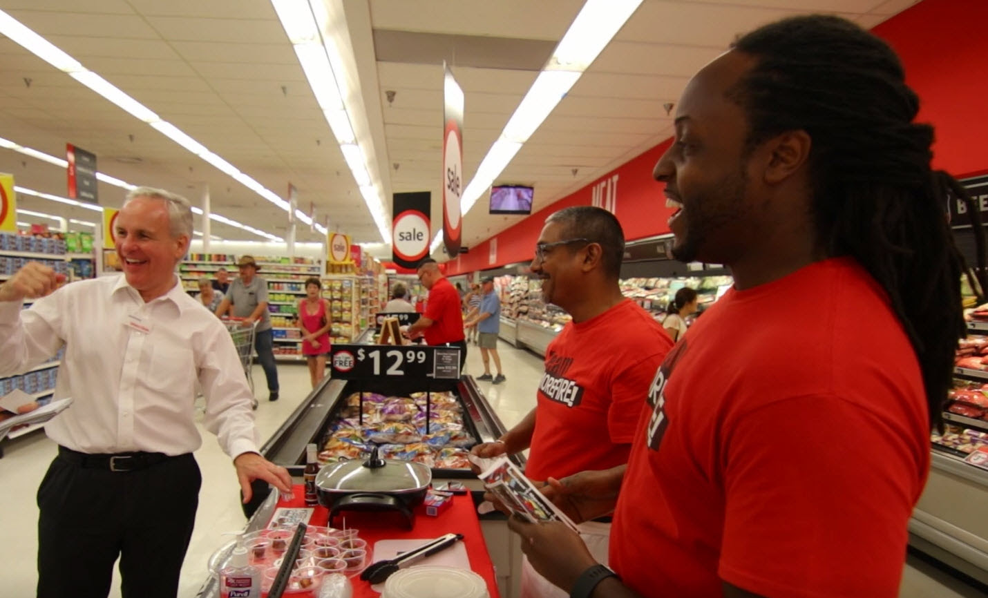 Winn-Dixie CEO has 'GOT THAT FIRE!' with TeamMoreFire at Grand Opening