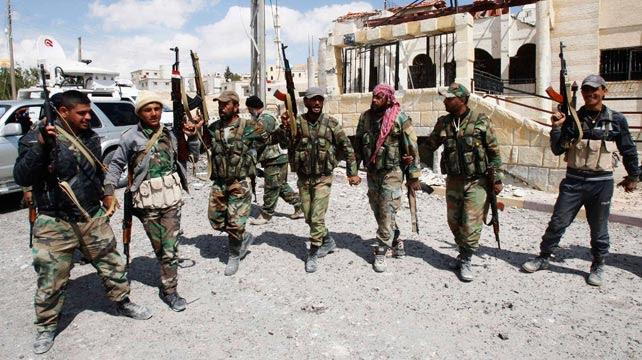 Milicianos sirios.