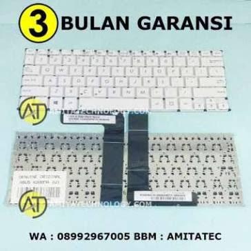 Unik Keyboard Laptop ORIGINAL Asus X200 X200CA X200MA F200CA F200MA WHITE Diskon