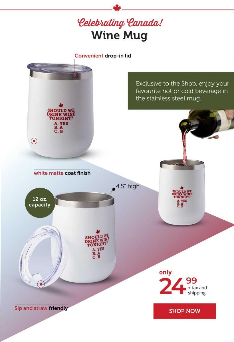 Celebrating Canada wine mug