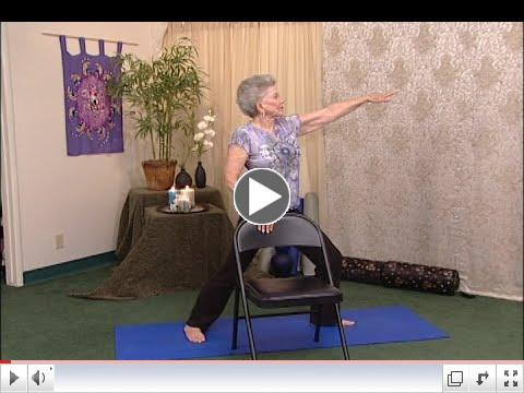 (20 min) Yoga with a Chair - Standing with Mary Cavanaugh, Creator of Chair Yoga