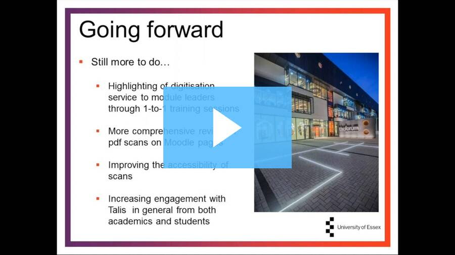 University of Essex increasing engagement TADC webinar