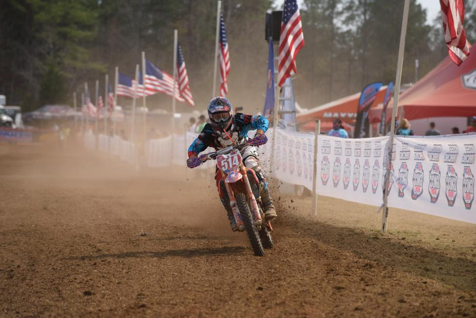 Steward Baylor earned the win at last years VP Racing Fuels Big Buck GNCC.
