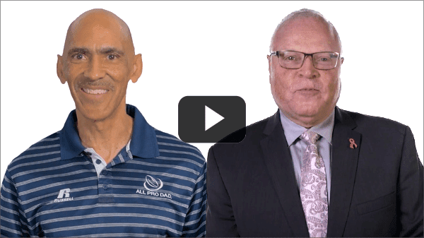 Tony Dungy and Lee Saunders