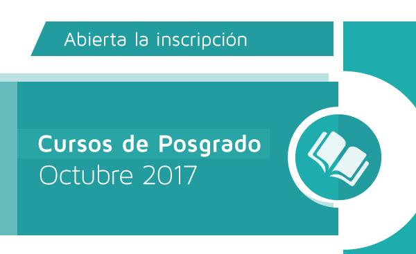 Cursos de Posgrado - Octubre 2017