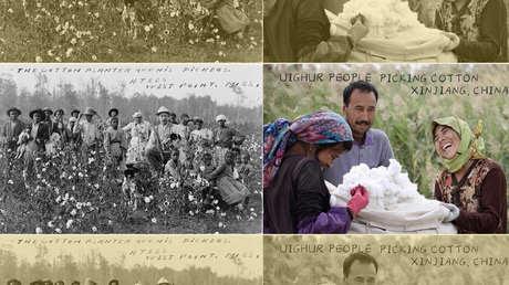 La foto con la que China refutó las acusaciones de violaciones de DD.HH. en Xinjiang y recordó la esclavitud en EE.UU.