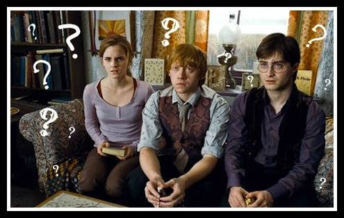 Harry Ron and Hermione say WTF