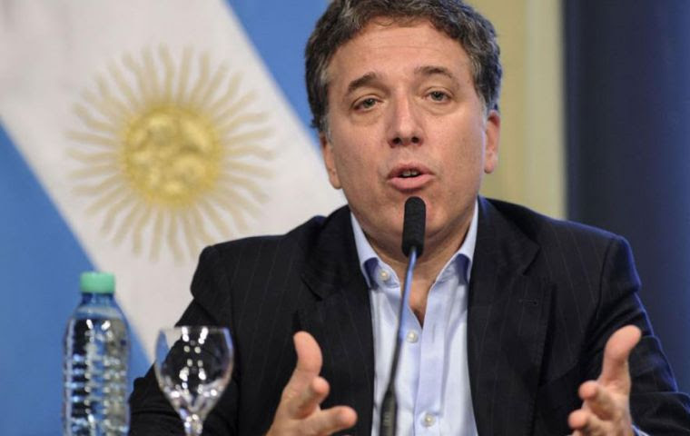 """I am very sure that the Argentine economy will grow more than 3% this year,"" Dujovne told an investors' conference in Buenos Aires."