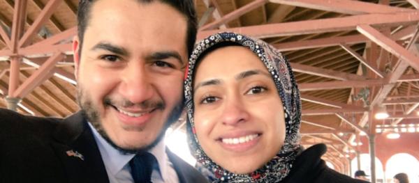 Abdul                                                          El-Sayed with                                                          wife Sarah.