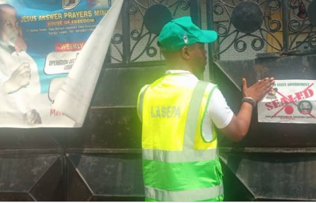 Lagos State Seals Eight Mosques, Churches Over Persistent Environmental Pollution