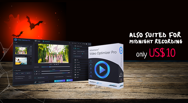 Ashampoo Video Optimizer Pro - Suited for Midnight Recording