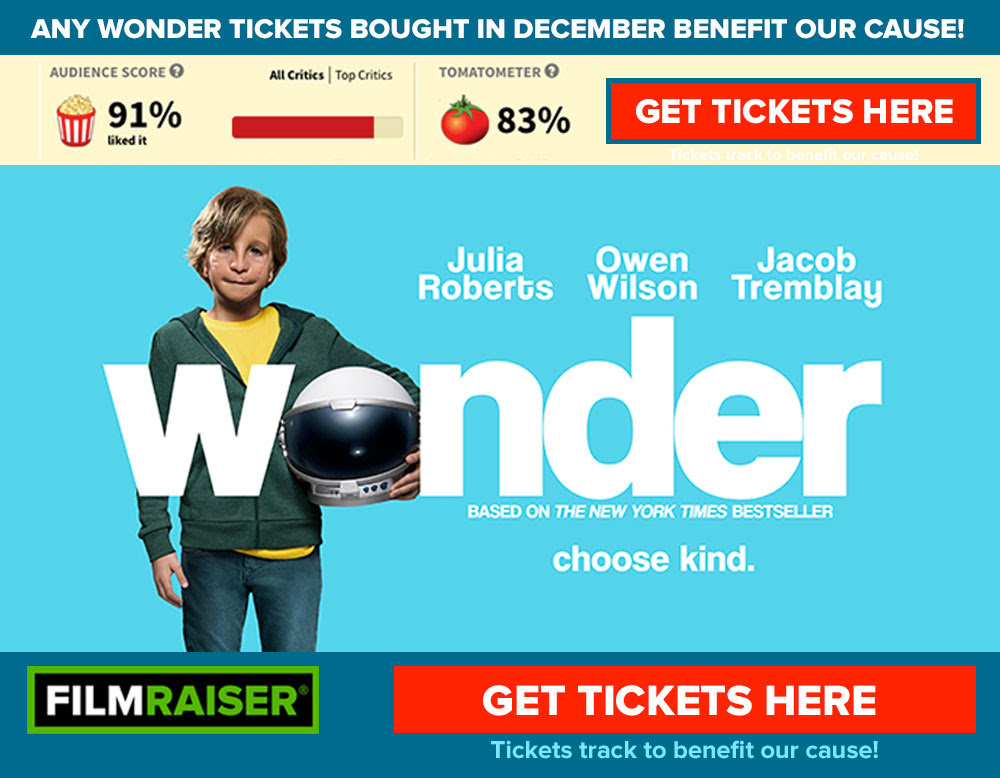 Click to get Wonder tickets on Fandango—sales track to Poland Central School French Club!