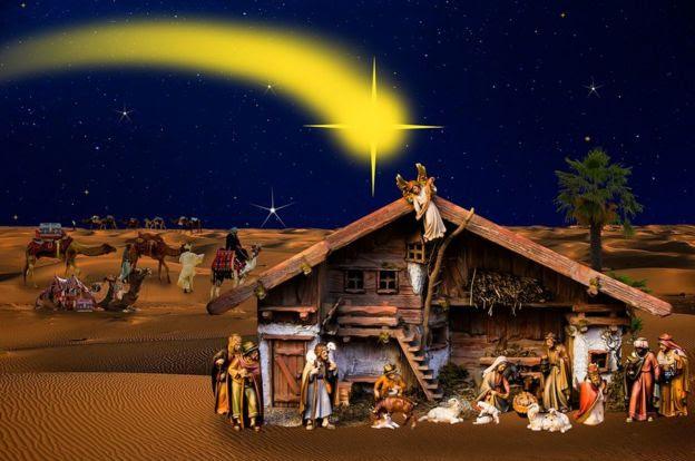 Resultado de imagen para pesebres navideños con cometa y pastoritos