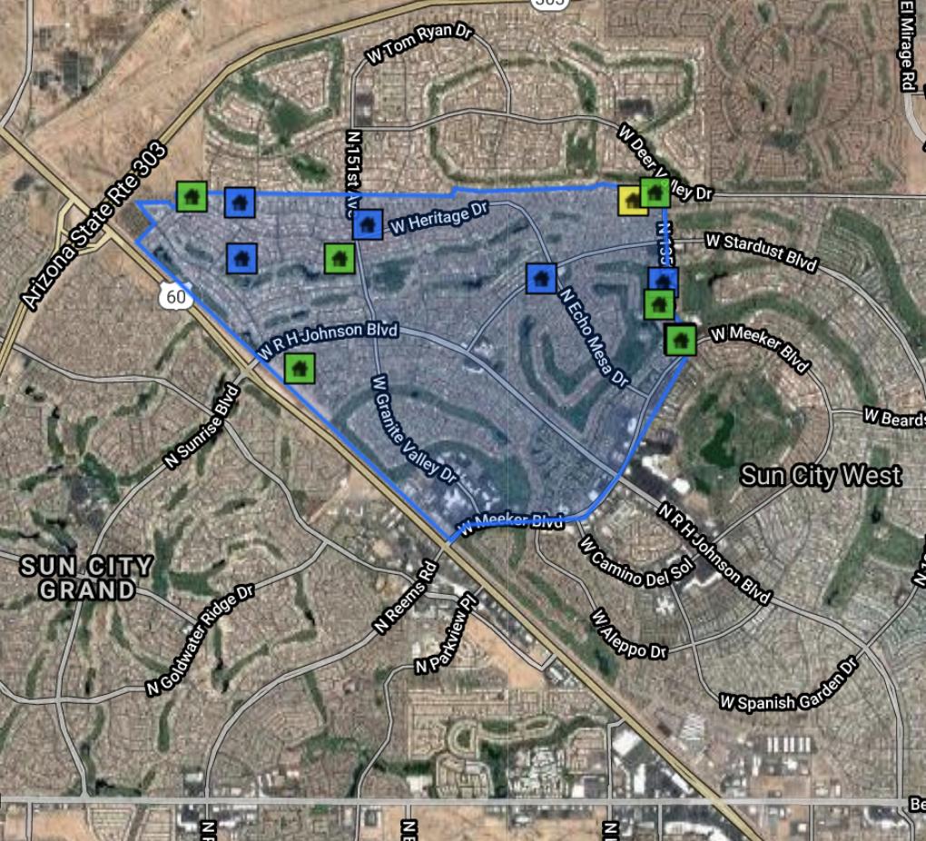 14313 W Circle Ridge Dr, Sun City West AZ 85375 Comps Map