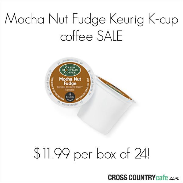 Mocha Nut Fudge Keurig Kcup coffee sale