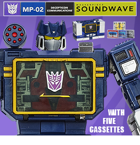 TRANSFORMERS MASTERPIECE SOUNDWAVE WITH CASSETTES