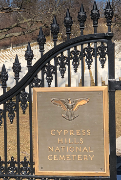 Cypress Hill Cemetery gate