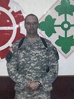 Steven Burton pictured in Baghdad, Iraq.