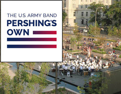 """U.S. Army band """"Pershing's Own"""" playing at the WWI Memorial"""