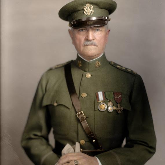 General Pershing color portrait square
