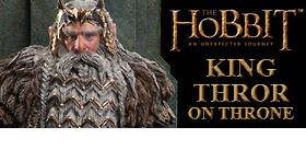 THE HOBBIT - KING THROR ON THRONE STATUE