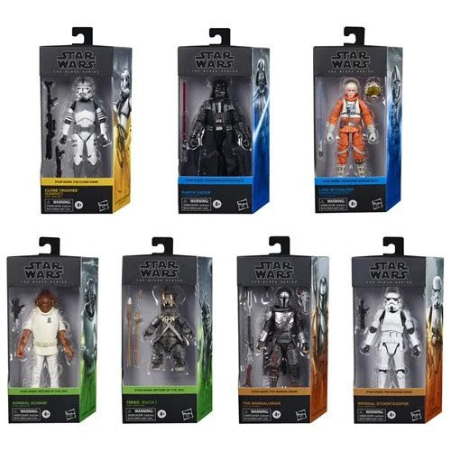 Image of Star Wars The Black Series Wave 5 (2020) 6-Inch Action Figures Set of 7