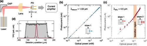 Mid-infrared two-photon absorption in an extended-wavelength InGaAs photodetector